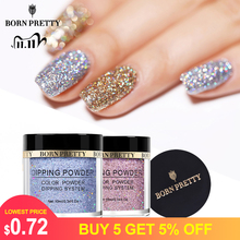 BORN PRETTY Dip Nail Powders, Gradient Holograpics Dipping Glitter Decoration, Longer lasting Nail powders, Natural Dry Without