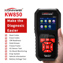 лучшая цена KONNWEI KW850 Autoscanner OBD 2 OBD2 Automotive Scanner Multi-languages Auto Diagnostic Scanner better AL519 NT301 OBD2 Scanner