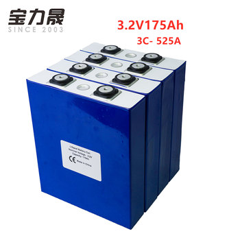 3.2V 175Ah lifepo4 battery 4PCS Lithium Iron Phosphate Cell Cycle 4000 Times  3C 500A Solar 12V 176Ah NOT 180Ah EU US TAX FREE