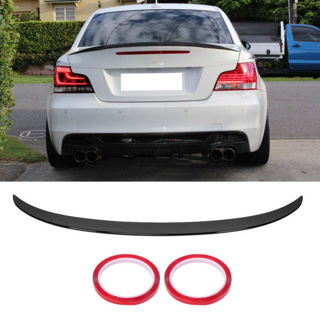 Car Rear Trunk Lid Spoiler Wing Glossy Black for M Performance Style Fit for BMW 1 Series E82 Coupe E88 Convertible 2007-2013