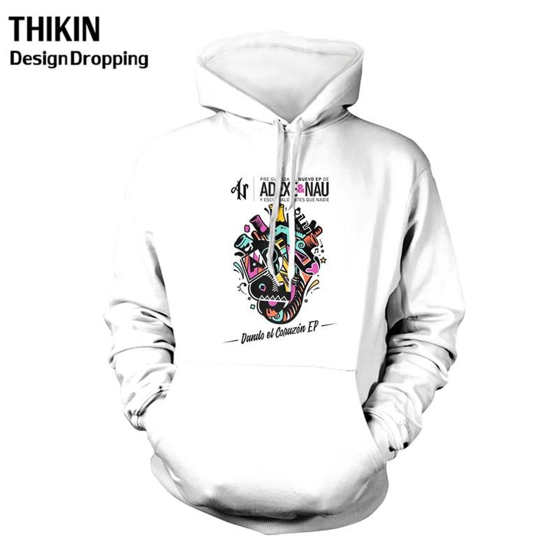 Adexe & Nau Fashion 3D Men's White Hoodies Creative Printing Casual Hoody Funny Sweatshirt Male Streetwear Size XS-4XL Wholesale