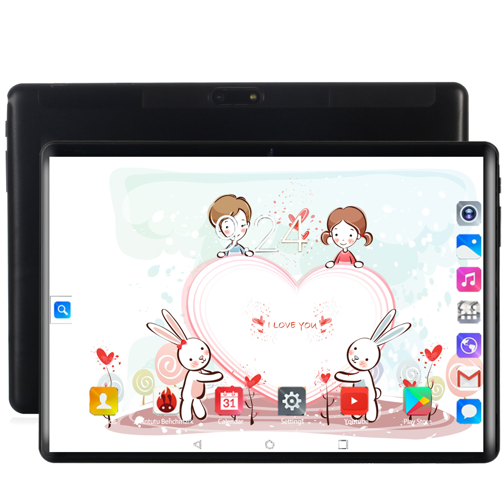 New 10 Inch 4G Phone Call Tablets Android 8.0 Octa Core 6G+128G Tablet Pc 3G 4G LTE Dual SIM Card Laptop WiFi GPS Bluetooth Tab