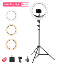 LED Ring Light Photography Lighting Selfie Lamp Wireless Remote Control Dimmable for Youtube Makeup Video Mobile Live