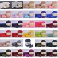 50g per person soft mink wool hand-knitted luxury long-wool cashmere Crochet knitted yarn suitable for autumn and winter