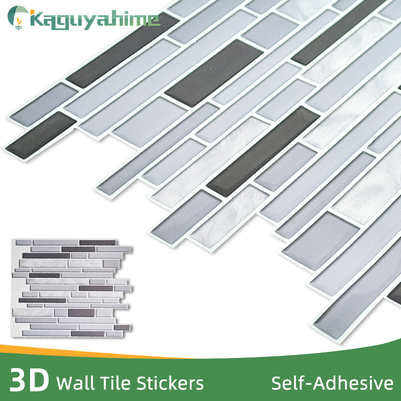 Kaguyahime 3D Imitation Ceramic Crystal  Wall Stickers Self Adhesive Mosaic Tiles DIY Ceramic Tile Waterproof Wallpaper For Home