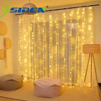 3x3M LED Vorhang Eiszapfen Lichterketten Weihnachten Fee Lichter Girlande Outdoor Home Für Hochzeit/Party/garten Dekoration 3x1M