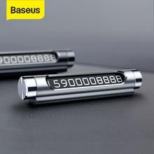 Baseus 자동차 임시 주차 카드 전화 홀더 회전식 자동차 전화 번호 플레이트 자기 흡착 주차 카드 자동차 스타일링