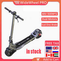 2020 Mercane Wide Wheel Pro Smart Electric Scooter 48V 1000W Kickscooter Dual Motor e scooter Disc Brake Skate board