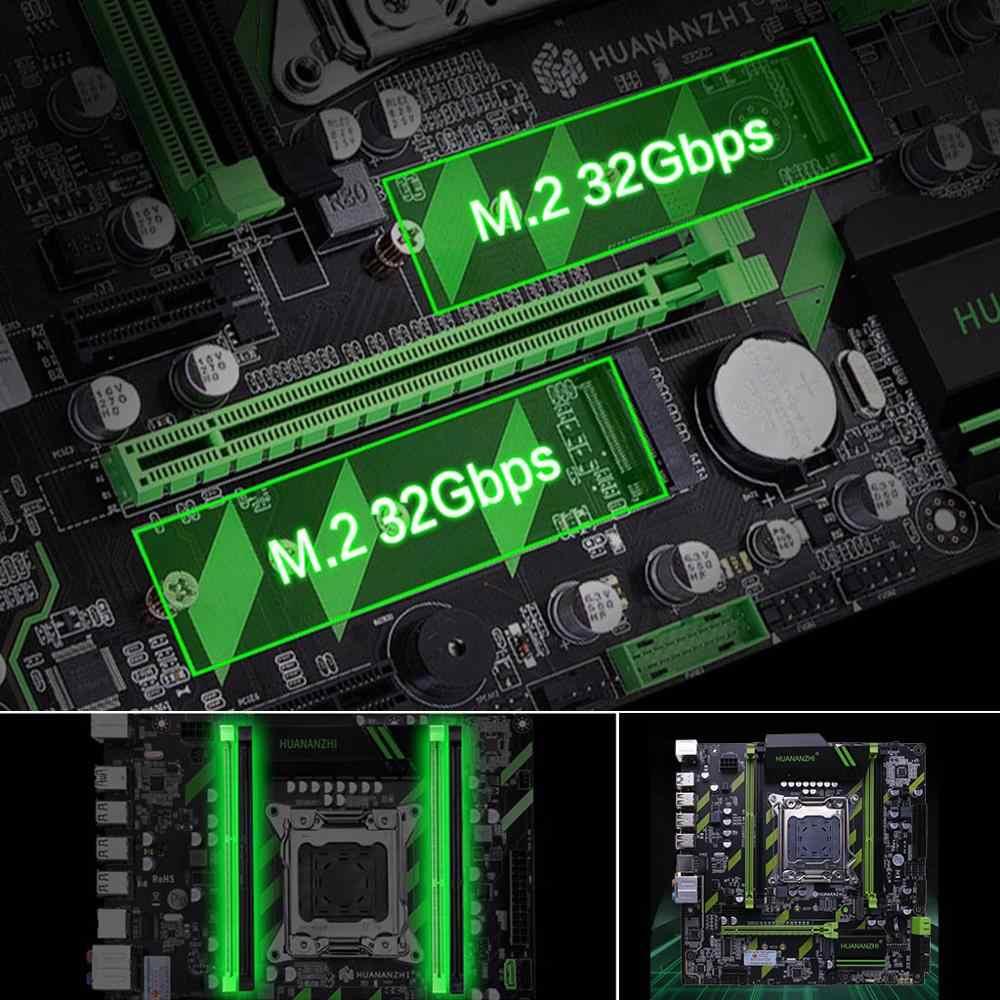 Huananzhi X79 اللوحة X79 LGA2011 ATX SATA3 USB3.0 اجهتي PCI-E 16X NVME M.2 SSD دعم REG ECC RAM زيون E5 وحدة المعالجة المركزية
