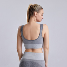 Women's Shock Absorber Padded Sports Bra Scoop Back Push Up Running Fitness Athletic Bras High Support Sport Bra Tops Yoga Crop