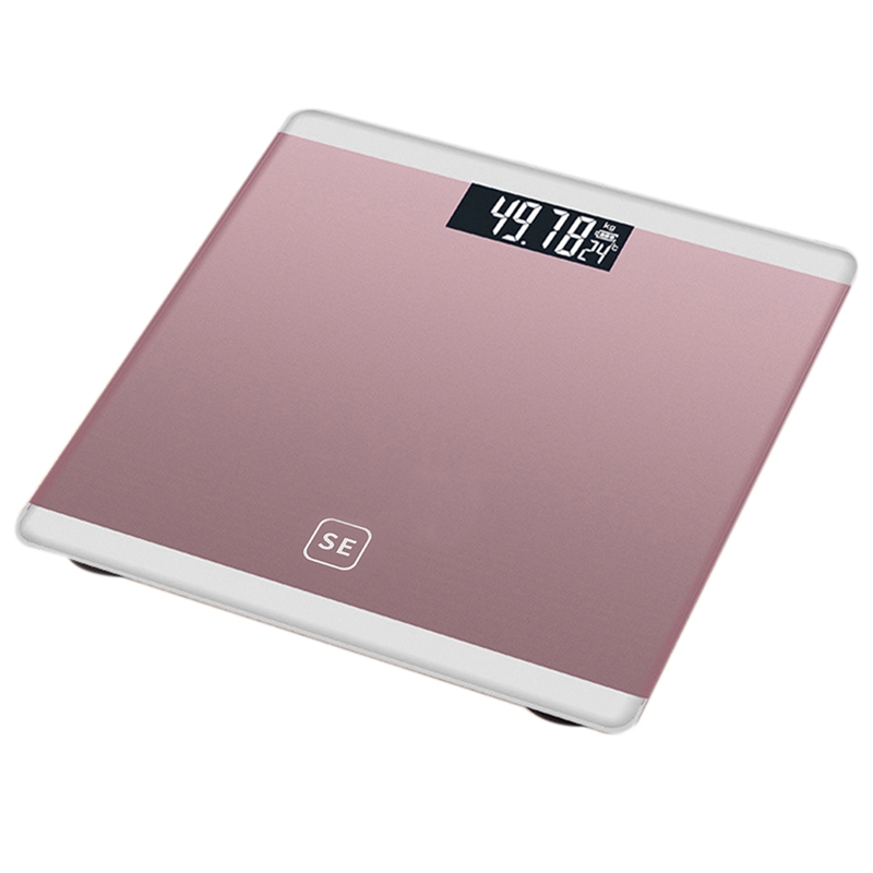 Rose Gold Digital Body Axunge Electronic Scale LCD Display Human Health Management Called Smart Balance Electronic Scale