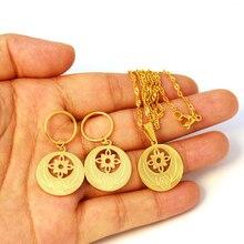 Гавайский цветок кулон ожерелья серьги Ювелирные наборы золотой цвет Микронезия Marshall Pohnpei Гуам ювелирные изделия подарок