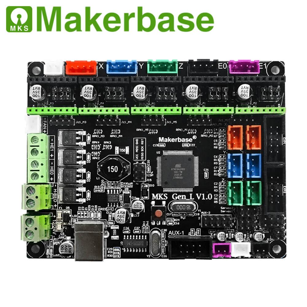 Makerbase 3D Placa de impresora MKS Gen L controlador compatible con Ramps1.4/Mega2560 R3 soporte A4988/TMC2208/2209TMC2100 controladores