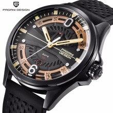 2019 PAGANI DESIGN Men Watch luxury brand man watches leather waterproof Quartz Sport hollow man wristwatch Relogio Masculino цена