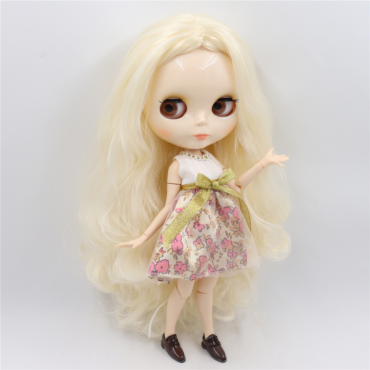Image 5 - ICY factory blyth doll bjd toy joint body white skin shiny face doll 1/6 30cm girl gift on sale special offerDolls   -