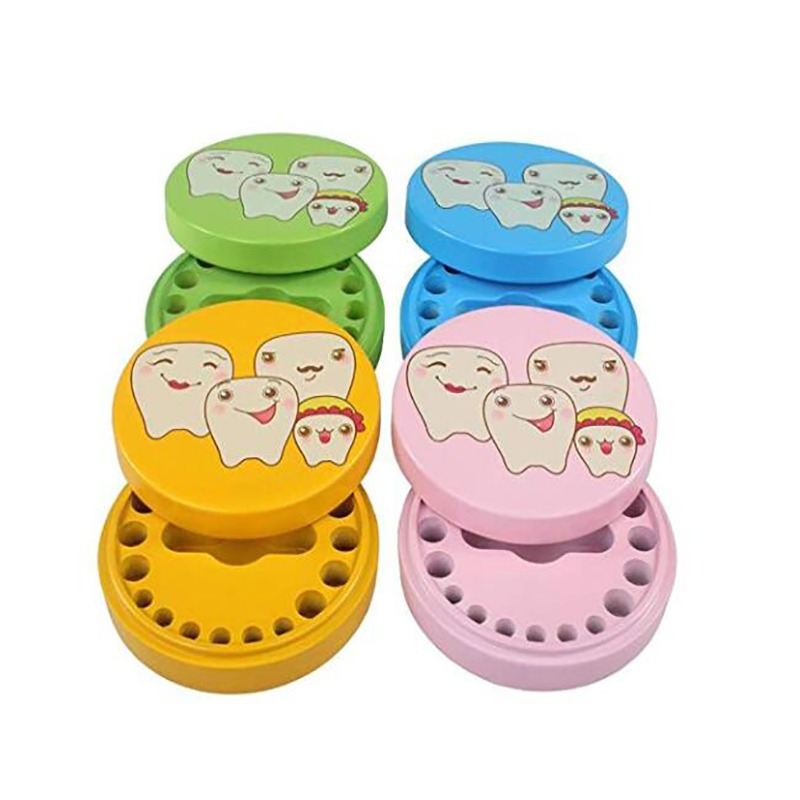 1set Wooden Baby Tooth Box Organizer Milk Teeth Storage Umbilical Lanugo Save Collect Baby Souvenirs Gifts