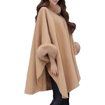 Plus Size Maternity Woolen Coat Scarf Collar Jackets Women Winter Fashion Outerwear Thicker Loose Coat Solid color button Casual button through solid outerwear
