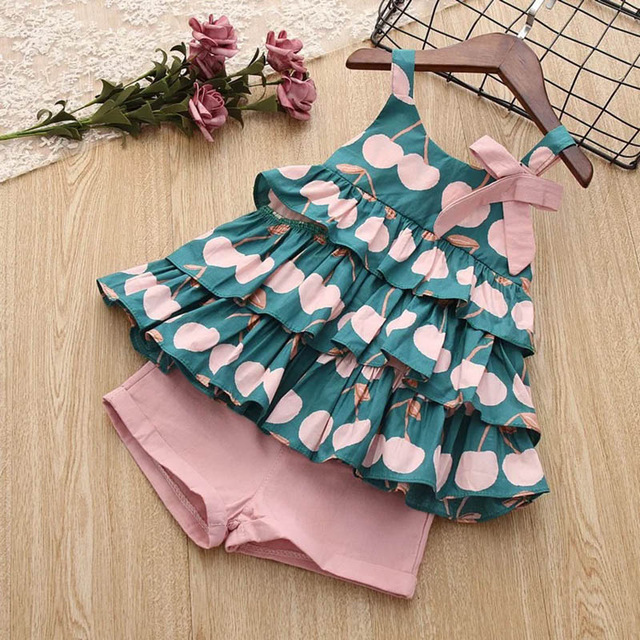 H50462b31c5f9477abb485e5083024304f Melario Kids Girls Clothing Sets Summer Baby Girls Clothes T-Shirt and Jeans Shorts Suit 2Pcs Children Clothes Suits