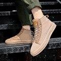 High Shoes Men's 2019 New Style Summer MEN'S SHOES Breathable Shoes White Men Students Versatile Casual Canvas Shoes Flat