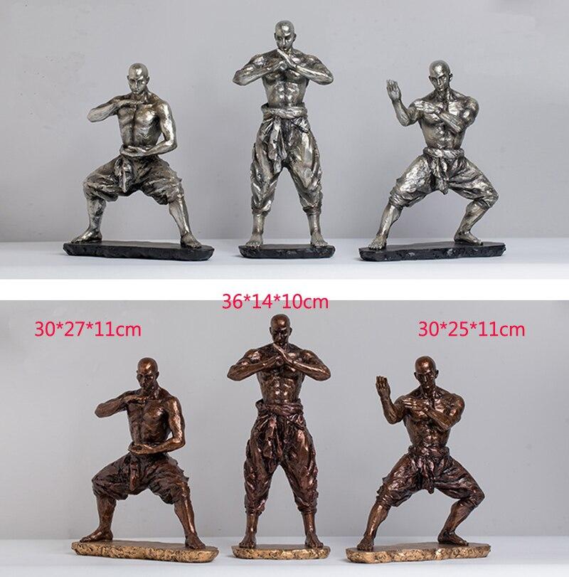 Estátuas de kongfu chinês estatuetas resina buda