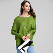 Spring Autumn new Bat Style Sleeve Womens sweater pullover solid color long-sleeved Knitting