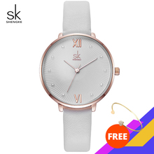 Casual Pearl Dial Quartz Watch White Leather