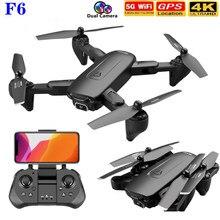 2021 nova f6 zangão 4k hd câmera gps fpv drones com follow me 5g wifi fluxo óptico dobrável rc quadcopter zangão profissional brinquedo