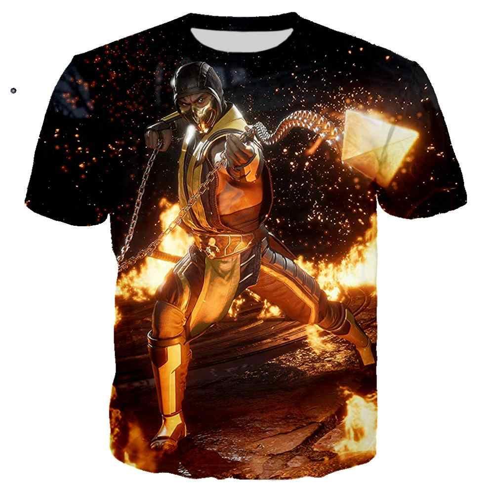 3D พิมพ์เกม Mortal Kombat T เสื้อผู้ชาย/ผู้หญิง Ropa hombre Casual Streetwear Harajuku เสื้อยืดผู้ชาย Hip Hop Man TShirt เสื้อผ้า 6XL