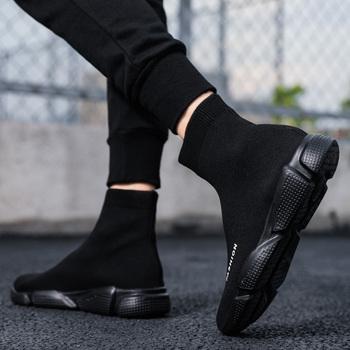 2021 Męskie buty sportowe Letnie wygodne płaskie dno Oddychające męskie skarpety na co dzień Buty Męskie lekkie buty z siateczki Czarne buty do biegania Buty na deskorolkę Młodzieżowe wysokie skarpety Buty Białe buty tanie i dobre opinie NoEnName_Null Elastyczna tkanina podstawowe CN (pochodzenie) Lato Buty casualowe RUBBER Wsuwane Dobrze pasuje do rozmiaru wybierz swój normalny rozmiar
