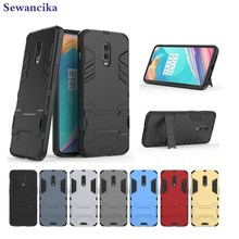 Phone case for OnePlus 6T (6.41) Armor hybrid PC + TPU 2in1 sport with Kickstand cover