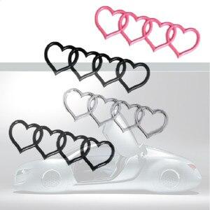 Image 4 - Audi için A3 A4 B8 A5 A6 A8 Q3 Q5 Q7 TT RS3 RS5 RS8 TIK Tok Arka Trunk Rozeti amblemi Yedek Şekillendirici Aşk Kalp çıkartma