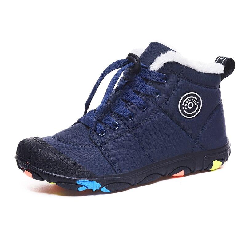 SKHEK New 2019 Children Boots Australia Waterproof Girls Boys Snow Boots Baby Winter Boot Fur Warm Boots For Kids Size 30-38