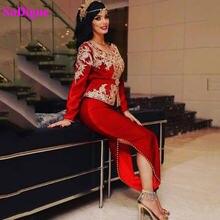 Sodigne арабский марокканский кафтан вечернее платье красное