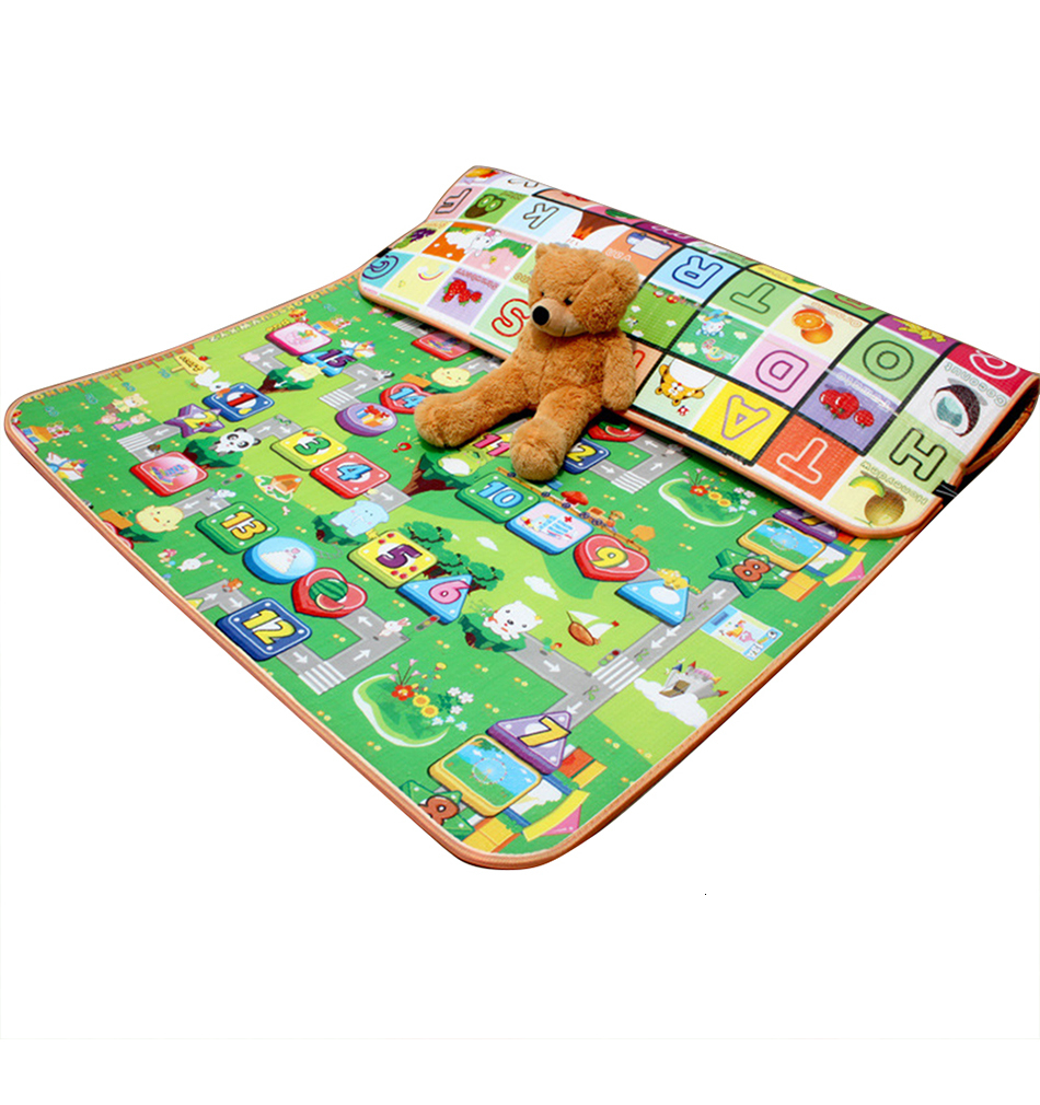H5046a61afc204b8a98498c54408dc4b2p Baby Play Mat 0.5cm Thick Foldable Crawling Mat Double Surface Baby Carpet Rug Cartoon Developing Mat for Children Game Playmat