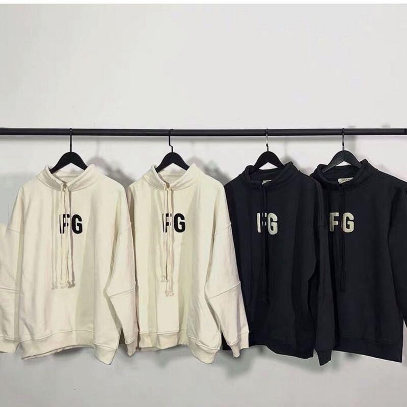 2020 Best Version 1:1 FOG Style 6th Collection FG Flocking Women Men Sweatshirt Hoodie Oversized Men Cotton Sweatshirt Pullover