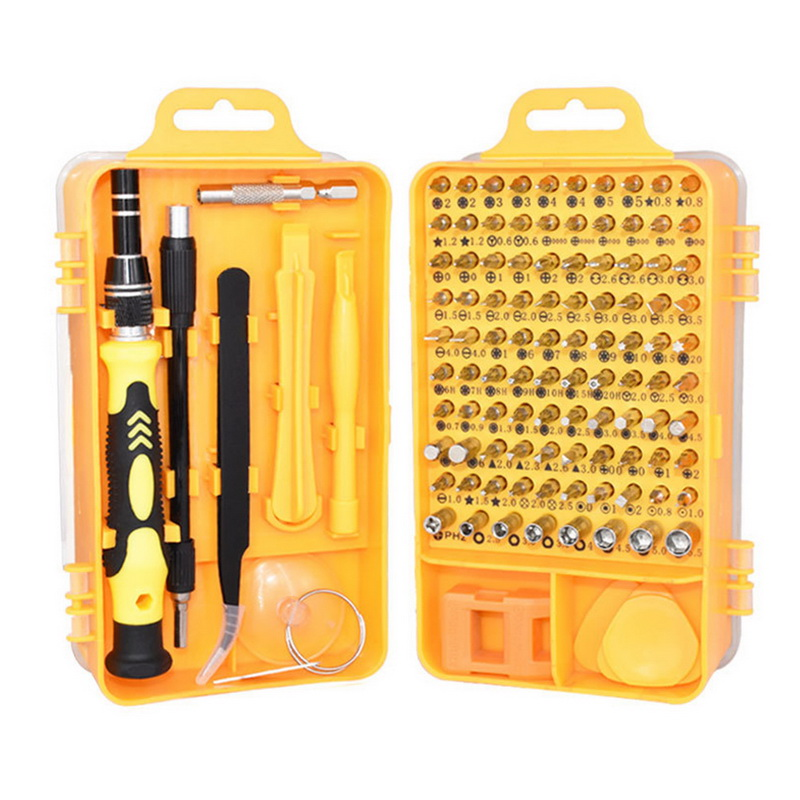 New Junejour Screwdriver Kit Precision Screwdriver Set 115 In 1 Repair Tools With Carry Case For Laptops Phone Watch