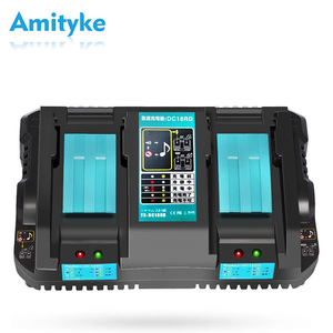 Makita 2 Port quick charger DC18RD 18v battery charger compatible compatible bl1430 bl1440 bl1450 bl1460 bl1830 bl1840 bl1850(China)