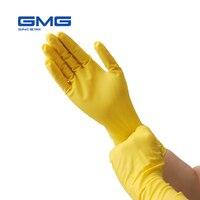 Handschuhe Nitril Wasserdichte Öl Beweis GMG Gelb Grün Nitril Diamant Muster Arbeiten Sicherheit Handschuhe Nitril Handschuhe Mechaniker