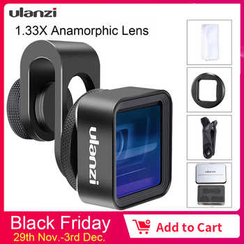 Ulanzi Anamorphic Lens For iPhone 11 Pro 1.33X Wide Screen Video Widescreen Slr Movie Videomaker Filmmaker Universal Phone Lens - Category 🛒 Cellphones & Telecommunications
