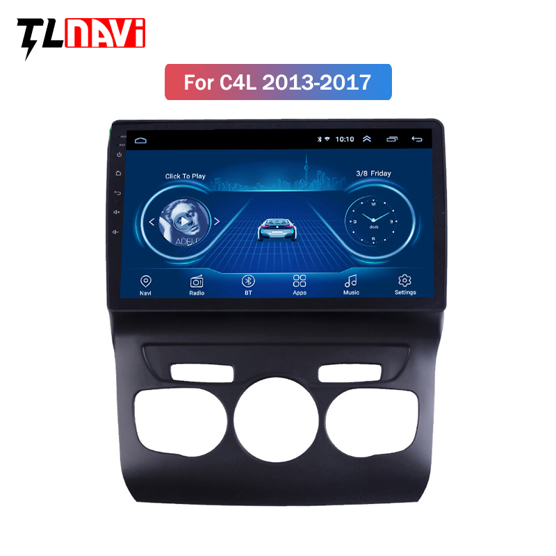 10.1 Inch Touch Screen Android 8.1 GPS Navigation System Wifi Bluetooth Car Radio For 2013 2014 2015 2016 Citroen C4 C4L