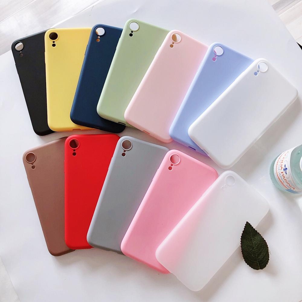 Luxus Schlank Matte Silikon Soft Cover Für <font><b>Xiaomi</b></font> Redmi 4 4A 4X5 Plus 5A Hinweis 6 Pro 6A 7 7A 8 Gehen S2 Y2 Candy Farbe TPU Fall Capa image