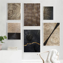 Modern Abstract Tree rings Picture Home Decor Nordic Canvas Painting Wall Art Luxury Minimalist Print and Poster for Living Room
