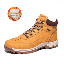 Men Hiking Shoes Waterproof Leather Climbing & Fishing New Popular Outdoor High Top Winter Boots
