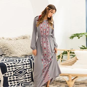 Vestidos Largos de otoño para mujer, Vestidos Largos de manga larga, Túnica...