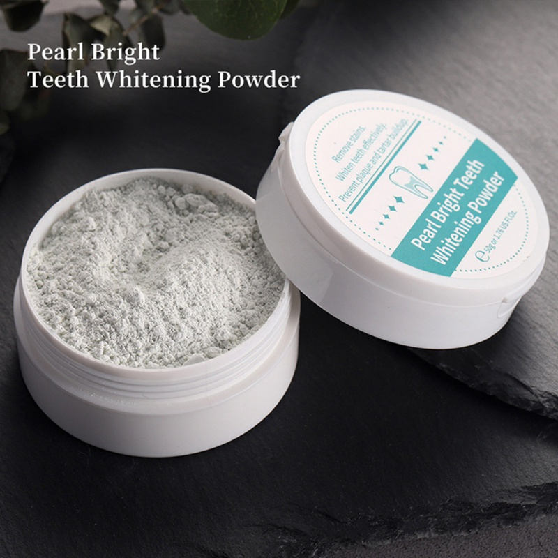 Natural Pearl Whitening Tooth Powder Remove Tooth Stains Oral Hygiene Anti-Bacterial Freshen Breath