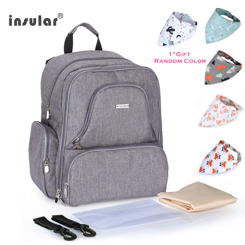 INSULAR Baby Care Maternity Bag Insulated Mommy Travel Backpack Nappy Bags Multifunctional Baby Diaper Bag For Stroller