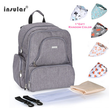 INSULAR Baby Care Maternity Bag Insulated Mommy Travel Backpack Nappy Bags Multifunctional Diaper For Stroller - discount item  38% OFF Activity & Gear