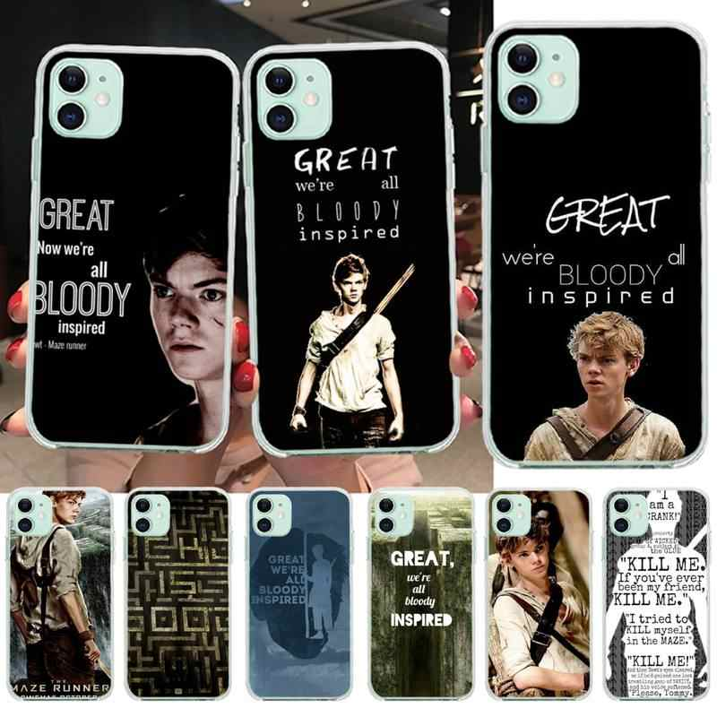 Newt Quotes The Maze Runner 블랙 TPU 소프트 러버 폰 커버 for iPhone 11 pro XS MAX 8 7 6 6S Plus X 5S SE 2020 XR 커버
