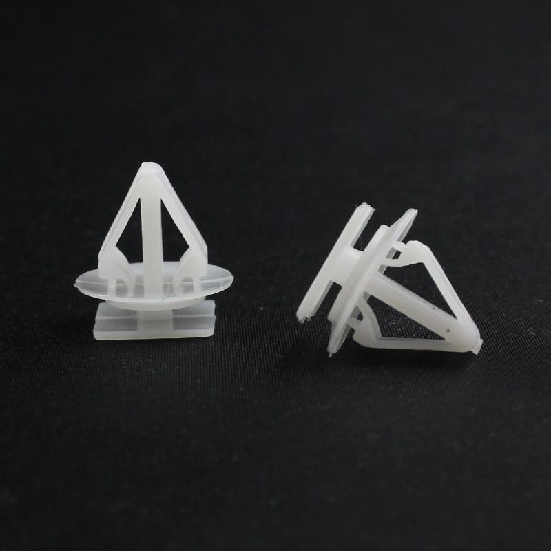 500x Guarnição side fender snaps clips Prendedor de retenção para Mazda geely cor branca HKpost Frete grátis
