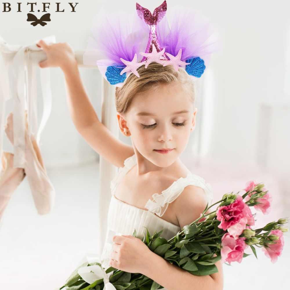 Bit. Fly Mermaid Party Wegwerp Servies Papier Kopjes Plaat Stro Vork Lepels Mermaid Verjaardagsfeestje Decoraties Kids Levert